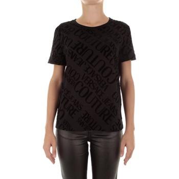 vaatteet Naiset Lyhythihainen t-paita Versace B2HUB728 Nero