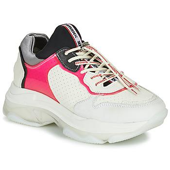 kengät Naiset Matalavartiset tennarit Bronx BAISLEY White / Pink