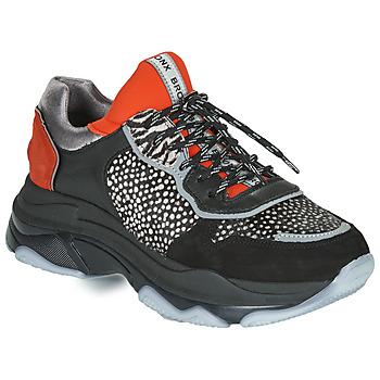 kengät Naiset Matalavartiset tennarit Bronx BAISLEY Black / Orange