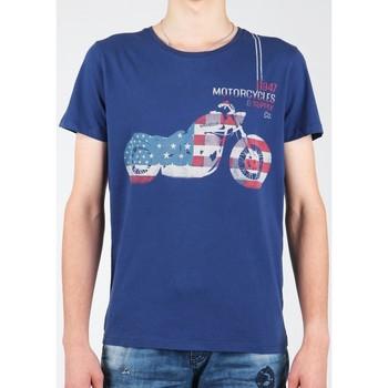 vaatteet Miehet Lyhythihainen t-paita Wrangler S/S Biker Flag Tee W7A53FK 1F navy