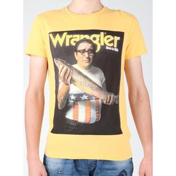 vaatteet Miehet Lyhythihainen t-paita Wrangler T-shirt  S/S Graphic T W7931EFNG yellow