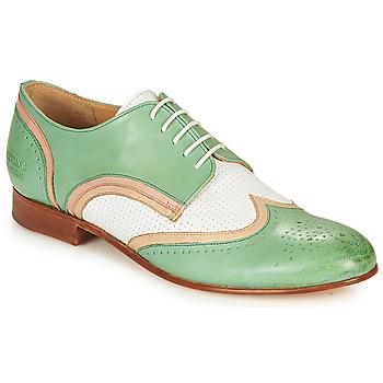 kengät Naiset Derby-kengät Melvin & Hamilton SALLY 15 Green / White / Beige