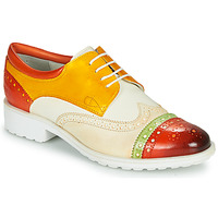 kengät Naiset Derby-kengät Melvin & Hamilton AMELIE 85 White / Yellow / Brown