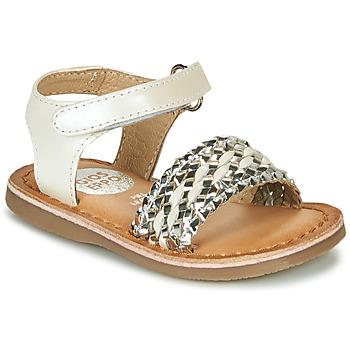 kengät Tytöt Sandaalit ja avokkaat Gioseppo VARESE White / Hopea