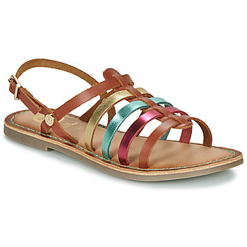 kengät Tytöt Sandaalit ja avokkaat Gioseppo ETALLE Cognac / Monivärinen