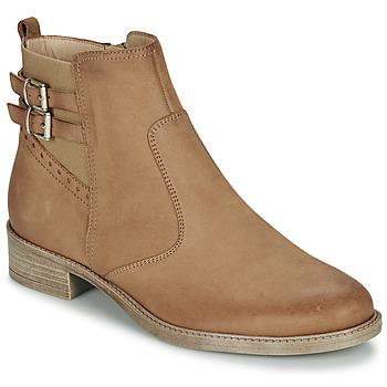 kengät Naiset Bootsit André CARLIN Camel