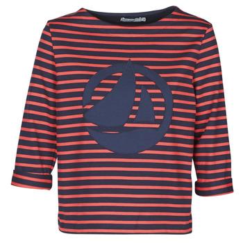 vaatteet Naiset Topit / Puserot Petit Bateau  Red / Laivastonsininen