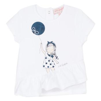 vaatteet Tytöt Lyhythihainen t-paita Lili Gaufrette NALIOS White