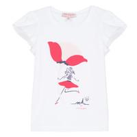 vaatteet Tytöt Lyhythihainen t-paita Lili Gaufrette KATINE White
