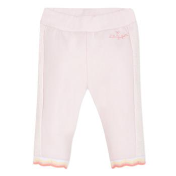 vaatteet Tytöt 5-taskuiset housut Lili Gaufrette DIM. Vaaleanpunainen