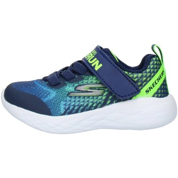kengät Lapset Matalavartiset tennarit Skechers 97858N Blue Lime