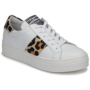 kengät Naiset Matalavartiset tennarit Meline GETSET Valkoinen / Leopardi