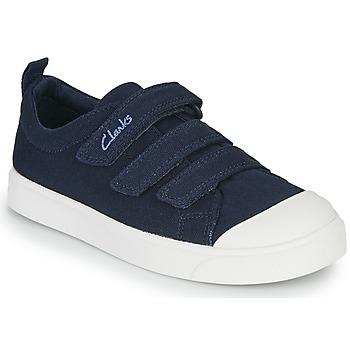 kengät Lapset Matalavartiset tennarit Clarks CITY VIBE K Laivastonsininen
