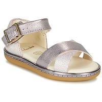 kengät Tytöt Sandaalit ja avokkaat Clarks SKYLARK PURE T Hopea / Pink