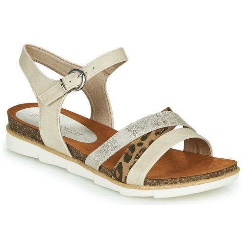 kengät Naiset Sandaalit ja avokkaat Marco Tozzi 2-28410 Beige