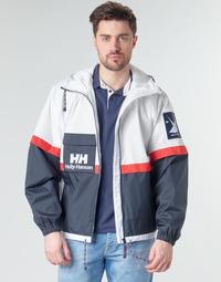 vaatteet Miehet Pusakka Helly Hansen RAIN Valkoinen / Laivastonsininen