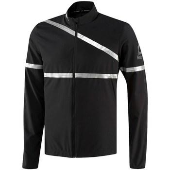 vaatteet Miehet Takit Reebok Sport One Series Running Hero Mustat,Hopeanväriset