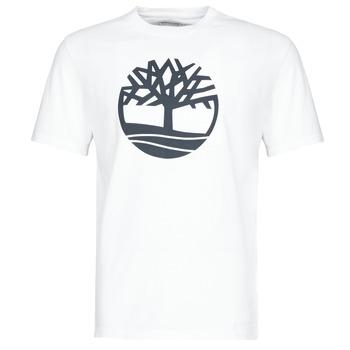 vaatteet Miehet Lyhythihainen t-paita Timberland SS KENNEBEC RIVER BRAND TREE TEE Valkoinen