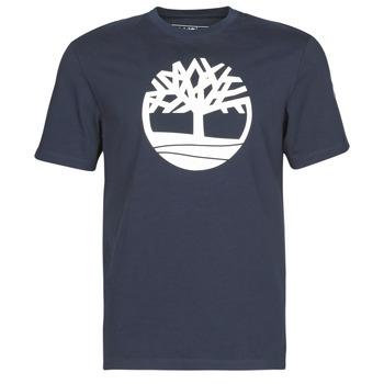 vaatteet Miehet Lyhythihainen t-paita Timberland SS Kennebec River Brand Tree Tee Laivastonsininen