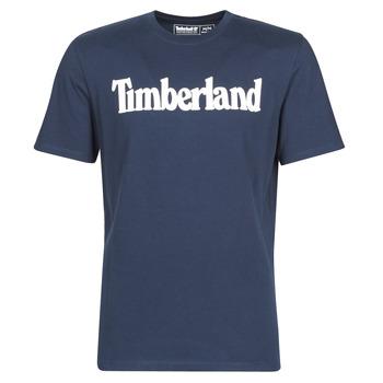 vaatteet Miehet Lyhythihainen t-paita Timberland SS KENNEBEC RIVER BRAND LINEAR TEE Laivastonsininen