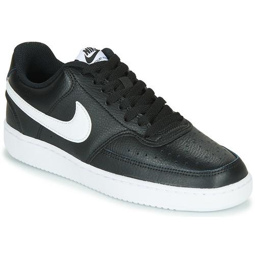 kengät Naiset Matalavartiset tennarit Nike COURT VISION LOW Black / White