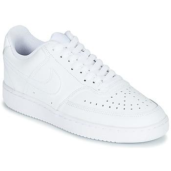 kengät Naiset Matalavartiset tennarit Nike COURT VISION LOW White