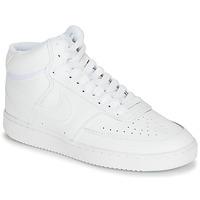 kengät Naiset Korkeavartiset tennarit Nike COURT VISION MID White