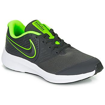 kengät Pojat Urheilukengät Nike STAR RUNNER 2 GS Musta / Vihreä