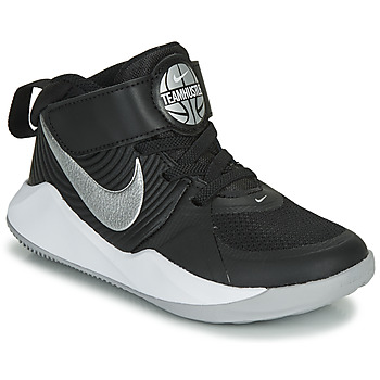 kengät Pojat Urheilukengät Nike TEAM HUSTLE D 9 PS Black / Hopea
