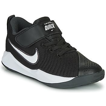 kengät Lapset Urheilukengät Nike TEAM HUSTLE QUICK 2 PS Black / White