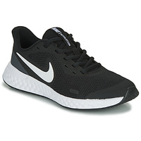 kengät Lapset Matalavartiset tennarit Nike REVOLUTION 5 GS Black / White