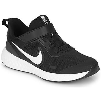 kengät Lapset Matalavartiset tennarit Nike REVOLUTION 5 PS Black / White