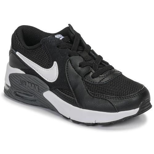 kengät Lapset Matalavartiset tennarit Nike AIR MAX EXCEE PS Black / White