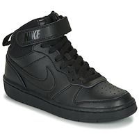 kengät Lapset Korkeavartiset tennarit Nike COURT BOROUGH MID 2 GS Black