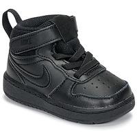 kengät Lapset Korkeavartiset tennarit Nike COURT BOROUGH MID 2 TD Black