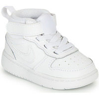 kengät Lapset Matalavartiset tennarit Nike COURT BOROUGH MID 2 TD White