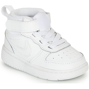 kengät Lapset Korkeavartiset tennarit Nike COURT BOROUGH MID 2 TD White