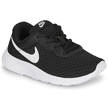 kengät Lapset Matalavartiset tennarit Nike TANJUN PS Black / White