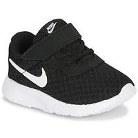 kengät Lapset Matalavartiset tennarit Nike TANJUN TD Black / White
