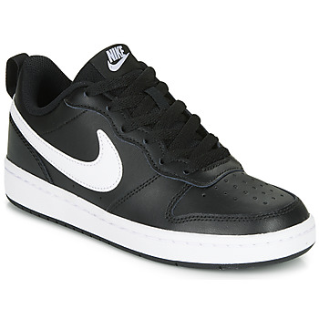 kengät Lapset Matalavartiset tennarit Nike COURT BOROUGH LOW 2 GS Black / White