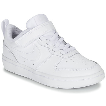kengät Lapset Matalavartiset tennarit Nike COURT BOROUGH LOW 2 PS White