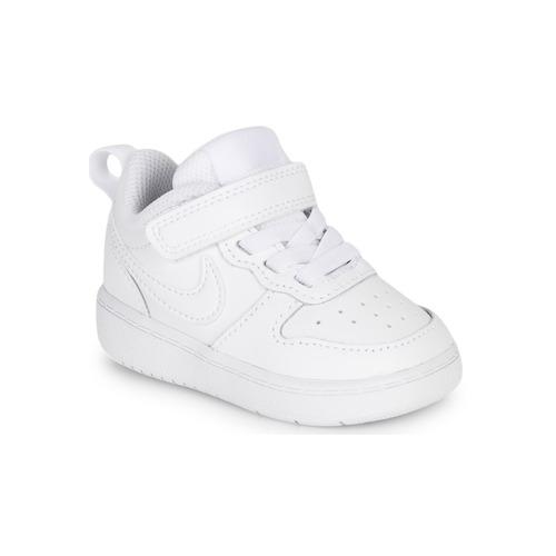 kengät Lapset Matalavartiset tennarit Nike COURT BOROUGH LOW 2 TD Valkoinen