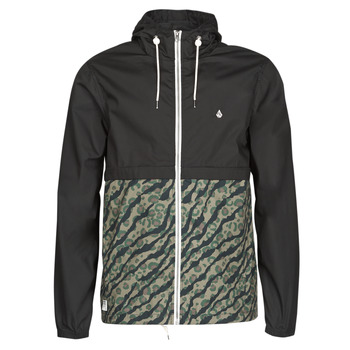 vaatteet Miehet Tuulitakit Volcom HOWARD HOODED Black