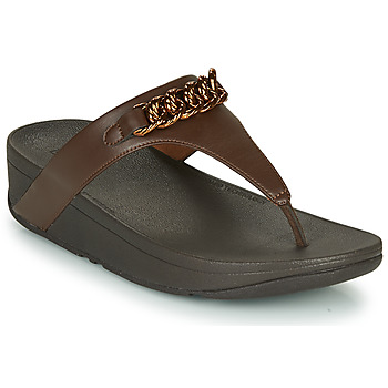 kengät Naiset Varvassandaalit FitFlop LOTTIE CHAIN TOE-THONGS Brown