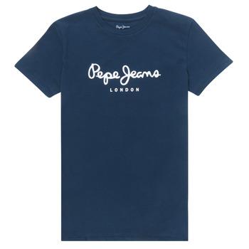 vaatteet Pojat Lyhythihainen t-paita Pepe jeans ART Laivastonsininen