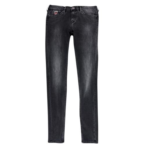 vaatteet Tytöt Slim-farkut Pepe jeans PAULETTE Black