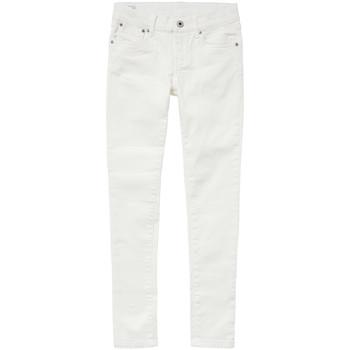 vaatteet Tytöt Slim-farkut Pepe jeans PIXLETTE White