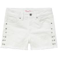 vaatteet Tytöt Shortsit / Bermuda-shortsit Pepe jeans ELSY White