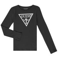 vaatteet Tytöt T-paidat pitkillä hihoilla Guess GARICE Black