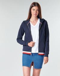 vaatteet Naiset Svetari Tommy Hilfiger HERITAGE ZIP THROUGH HOODIE Laivastonsininen